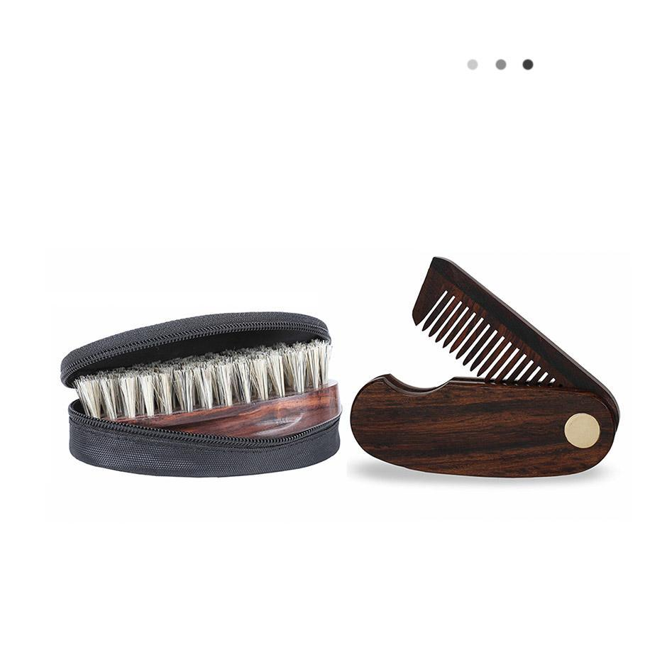 Essentials For Gentlemen - Beard Brush & Folding Beard Comb