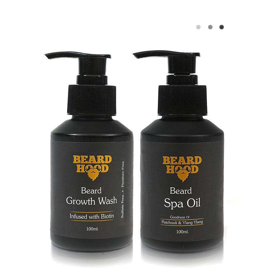 Essentials For Gentlemen - Beard Growth Wash+Beard Spa Oil