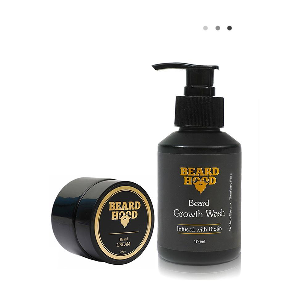 Essentials For Gentlemen - Beard Growth Wash+Natural Beard Cream