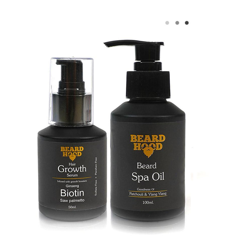 Essentials For Gentlemen - Beard+Hair Growth Serum+Beard Spa Oil