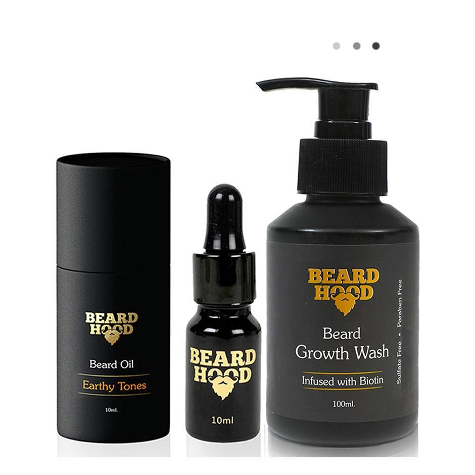 Essentials For Gentlemen - Beard Oil & Beard Growth Wash Duo