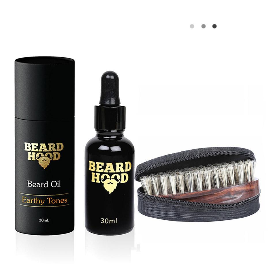 Essentials For Gentlemen - Earthy Tones Beard Oil+Beard Brush