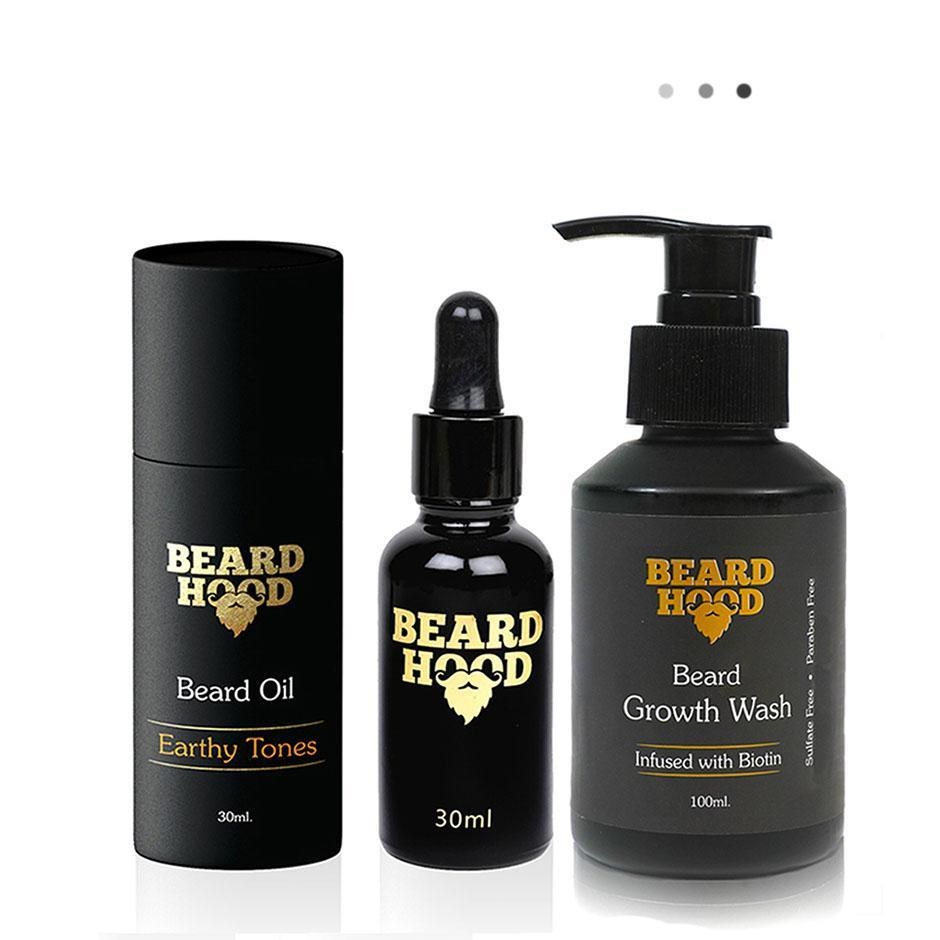 Essentials For Gentlemen - Earthy Tones Beard Oil+Beard Growth Wash