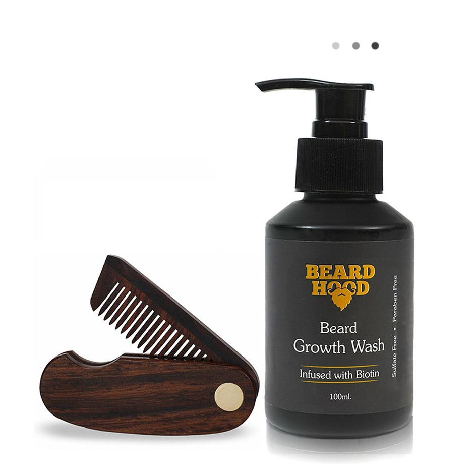 Essentials For Gentlemen - Folding Beard Comb+Beard Growth Wash