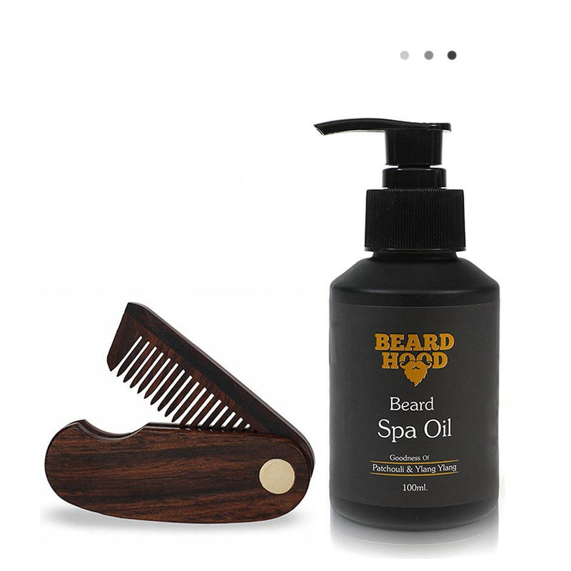 Essentials For Gentlemen - Folding Beard Comb+Beard Spa Oil