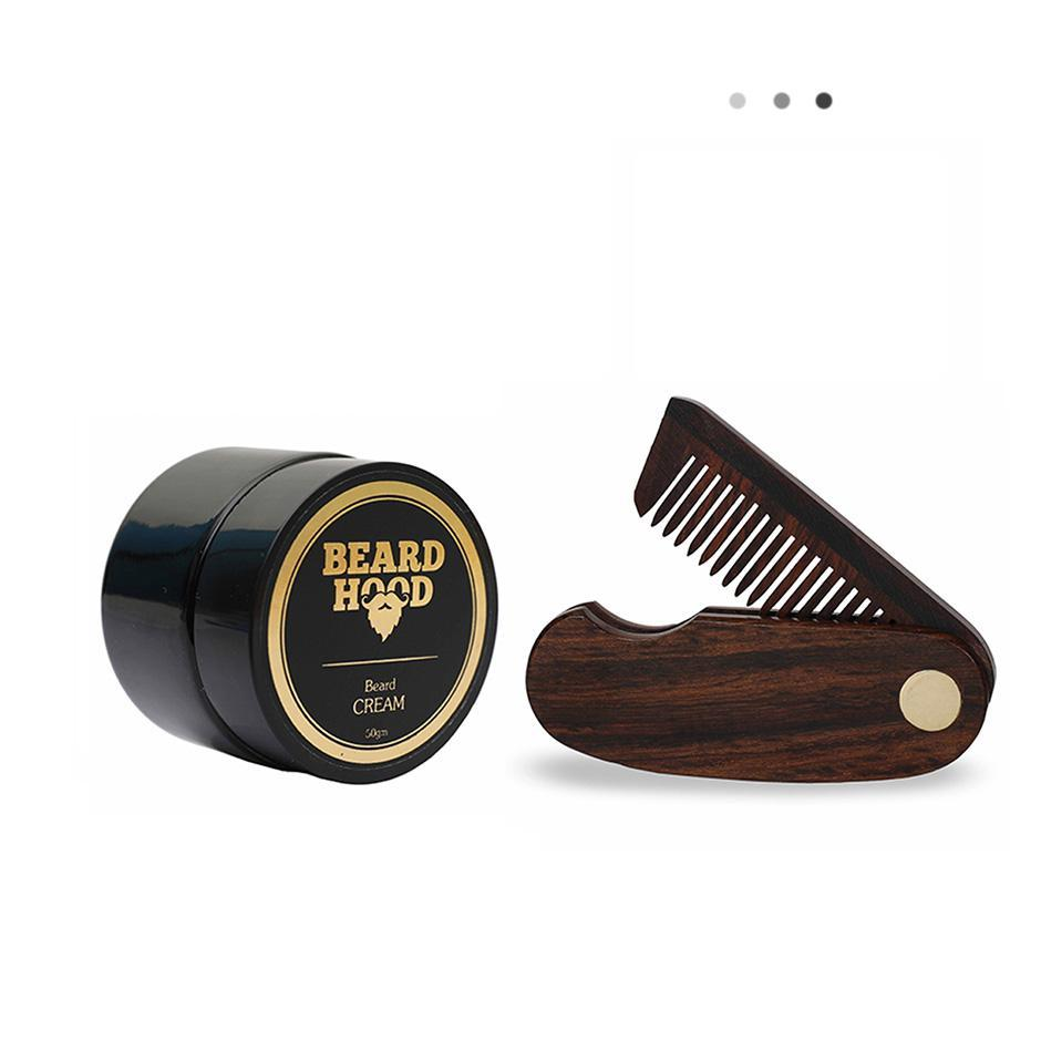 Essentials For Gentlemen - Folding Beard Comb+Natural Beard Cream