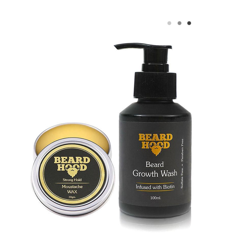 Essentials For Gentlemen - Mustache Wax & Beard Growth Wash