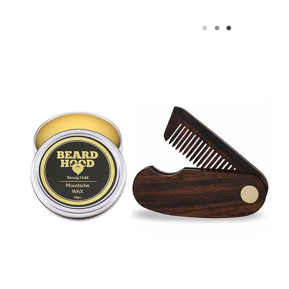 Essentials For Gentlemen - Mustache Wax & Folding Beard Comb