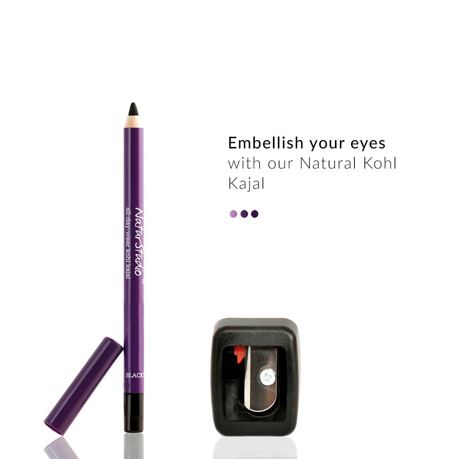 NaturStudio Kohl Kajal+ Flip-Tip Sharpener on Smytten | Eye Kajal | Plum