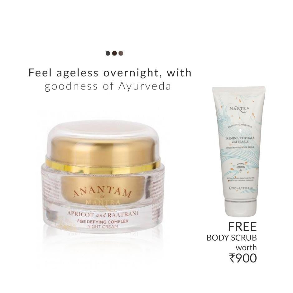 Face Care - Age Defying Complex Night Cream - Apricot And Raatrani (FREE Scrub)