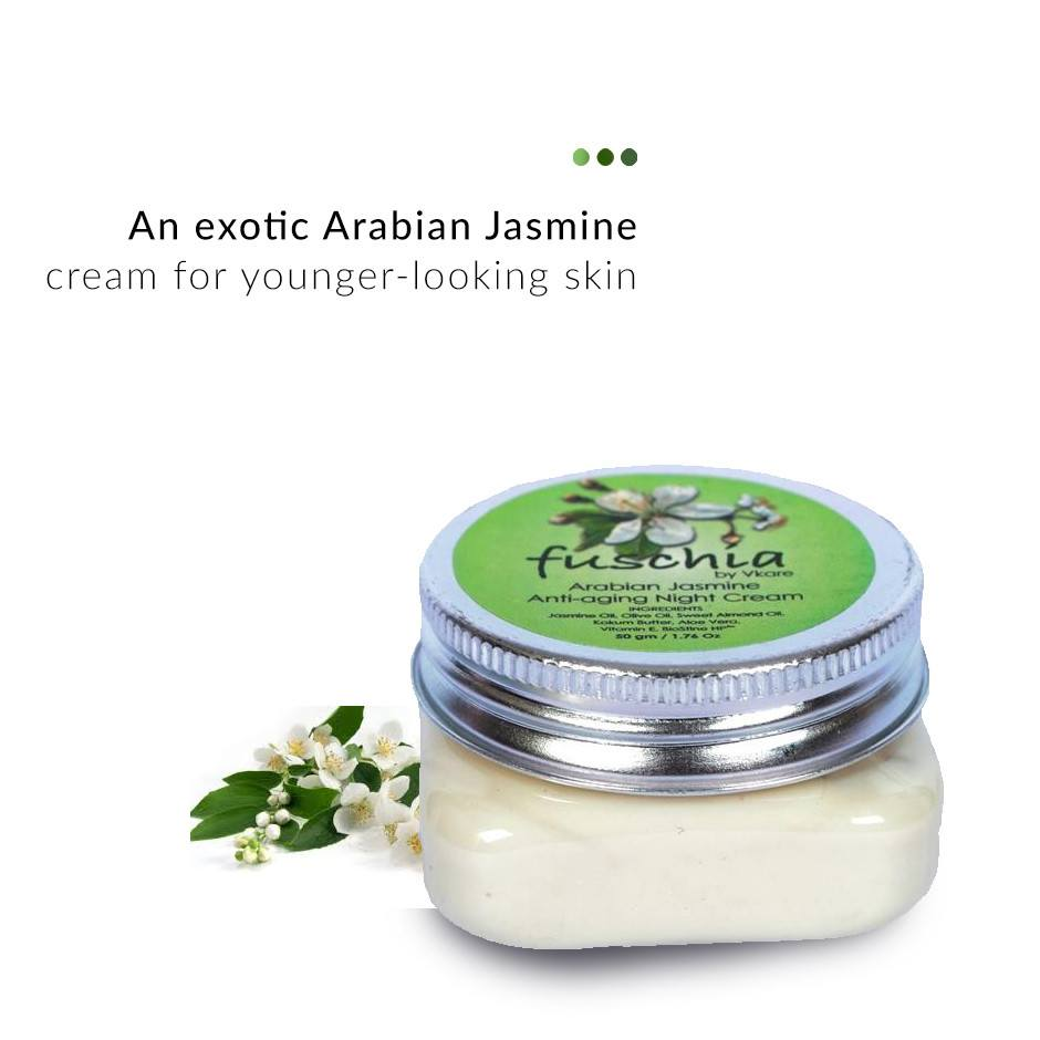 Arabian Jasmine Anti-ageing Night Cream on Smytten | Face Care | Fuschia