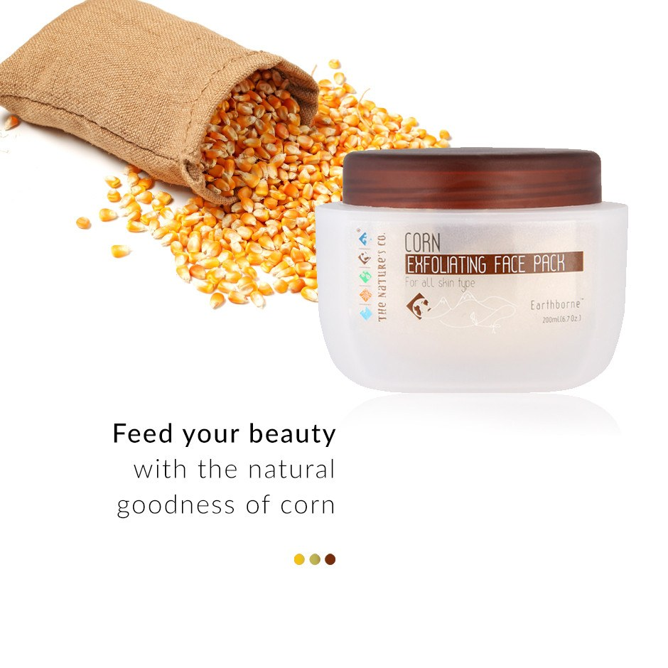 Corn Exfoliating Face pack on Smytten | Face Care | The Nature's Co
