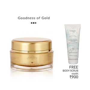 Glowing Face Gel with 24 carat gold - Gold and Saffron | Mantra | Shop on Smytten
