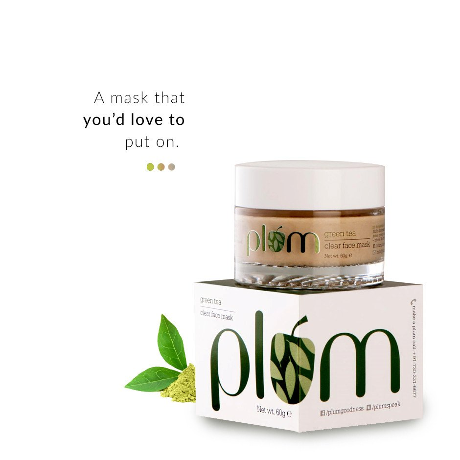 Green Tea Clear Face Mask on Smytten | Face Mask | Plum