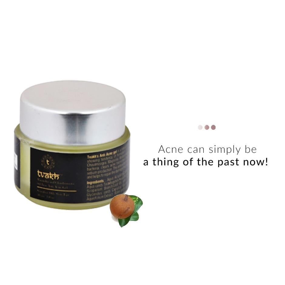 Face Massage Gel - Anti Acne Gel-Magnolia And Chaulmoogra Oil Free
