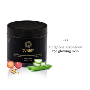 Face skin brightening massage gel-Aloe and Grapeseed | Tvakh | Shop on Smytten
