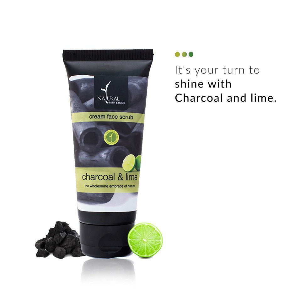 Charcoal and Lime Cream Face Scrub on Smytten | Face Scrub | Natural Bath & Body