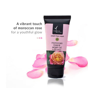 Morrocan Rose & Argan Oil Cream Face wash | Natural Bath And Body | Shop on Smytten