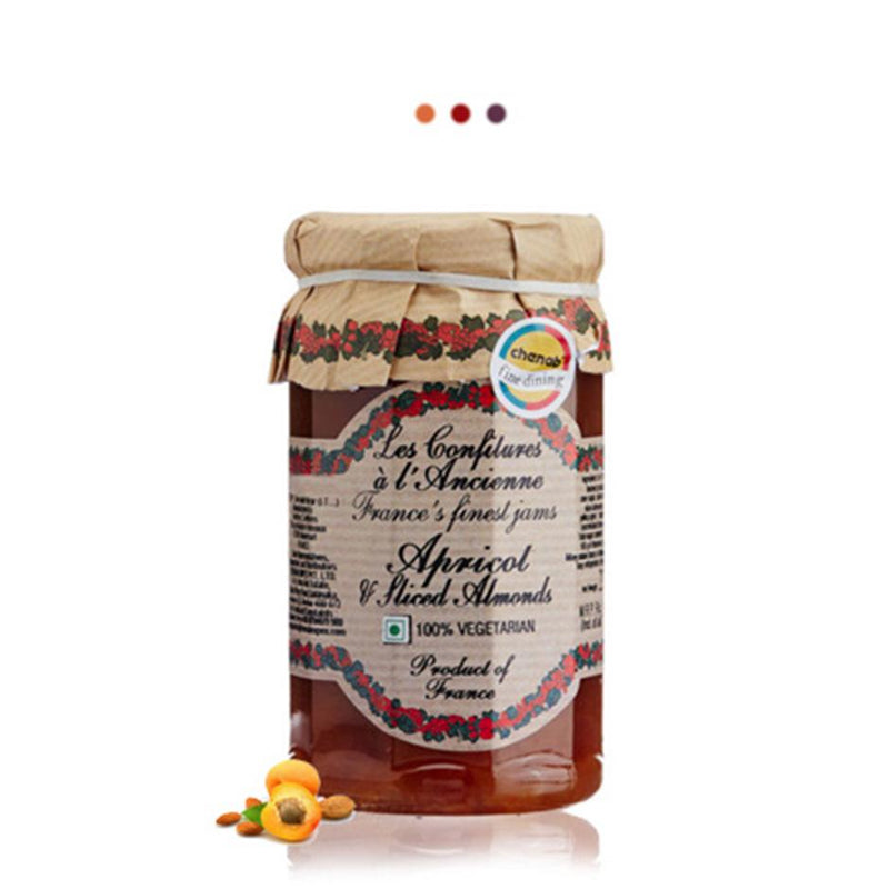 Food And Beverages - Apricot Sliced Almond Fruit Spread