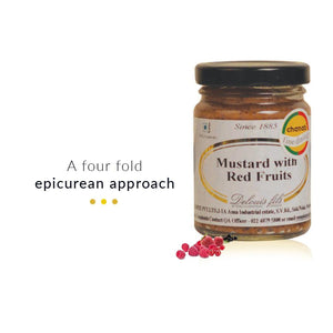 Food And Beverages - Mustards With 4 Red Fruits