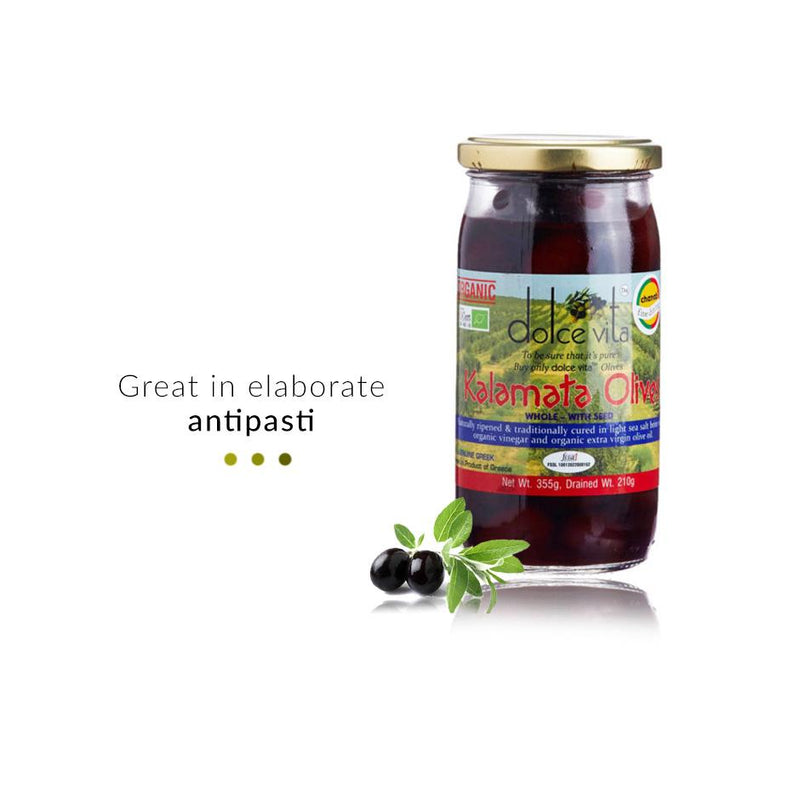 Food And Beverages - Organic Whole Kalamata Olives In Brine
