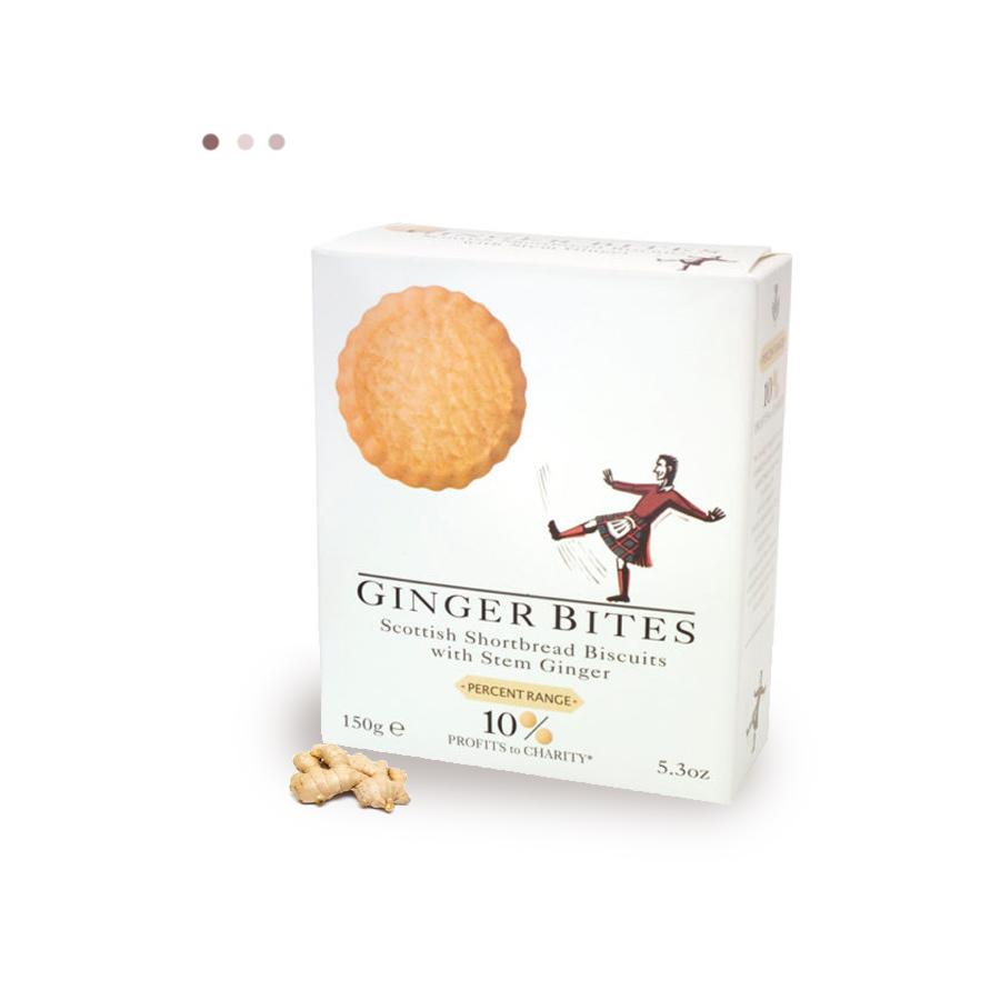 Food And Beverages - Shortbread Biscuits With Ginger Bites
