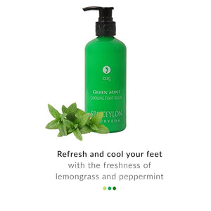 Foot Cream - Green Mint- Cooling Foot Relief