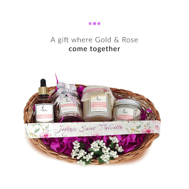 Gift Set - Liquid Gold & Rose Basket