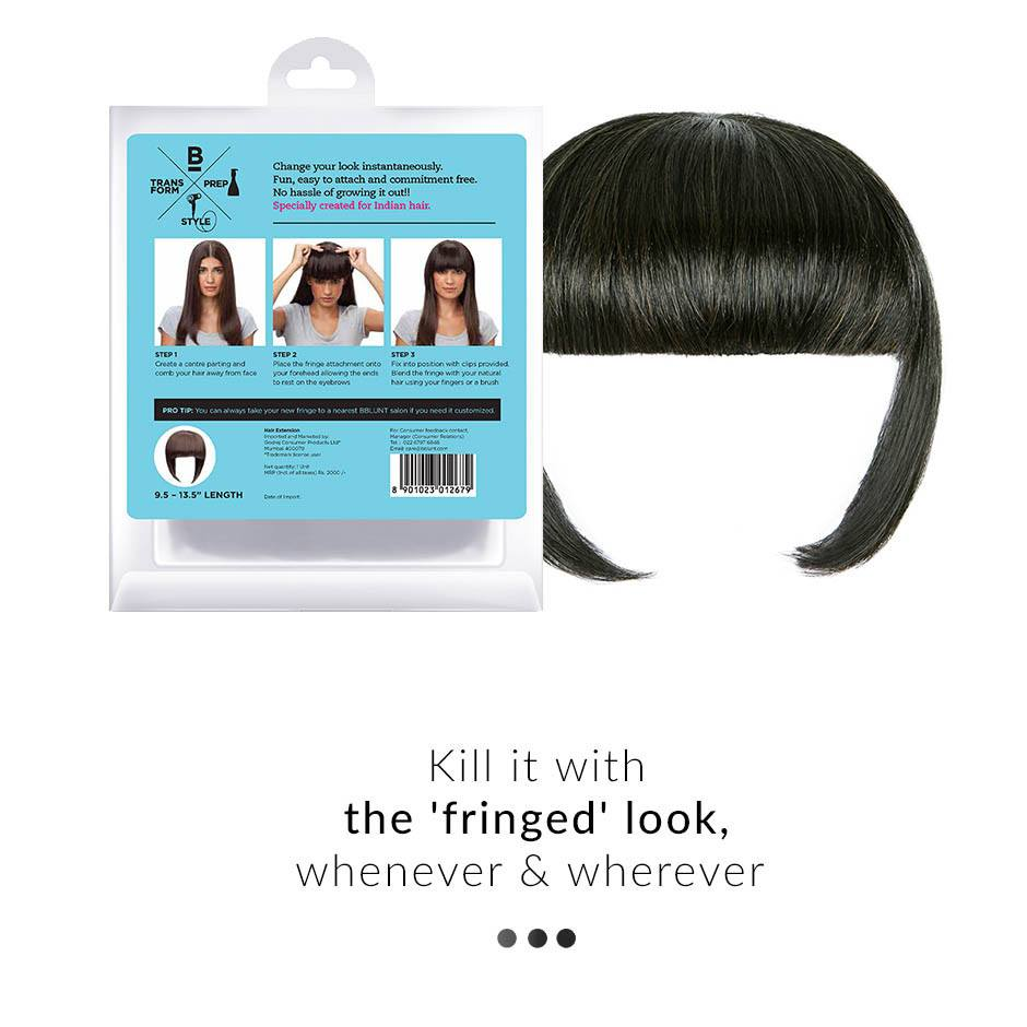 Hair Extension - Straight Fringe Clip On Hair Extension
