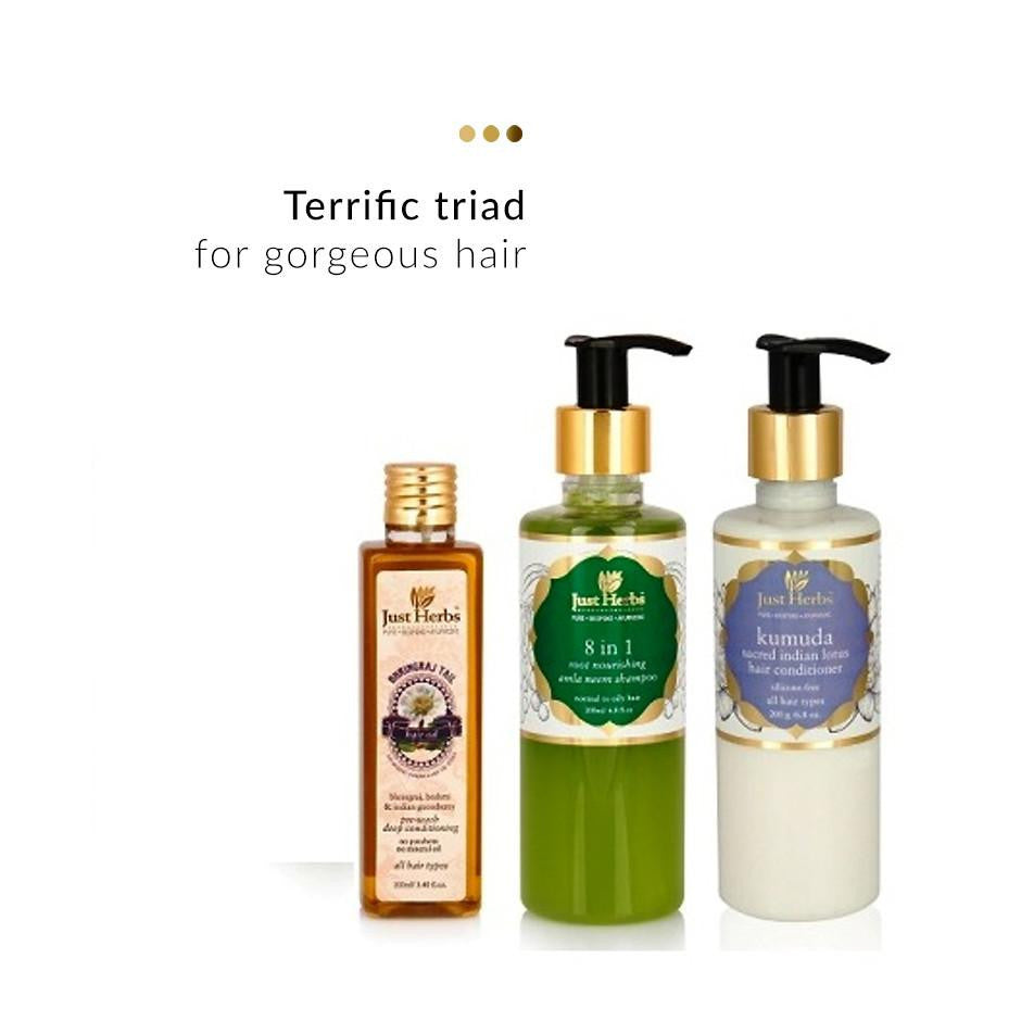 Haircare - Ayurvedic Haircare Trio (Normal/Oily Hair)