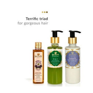 Ayurvedic Haircare Trio (Normal/Oily Hair) | Just Herbs | Shop on Smytten