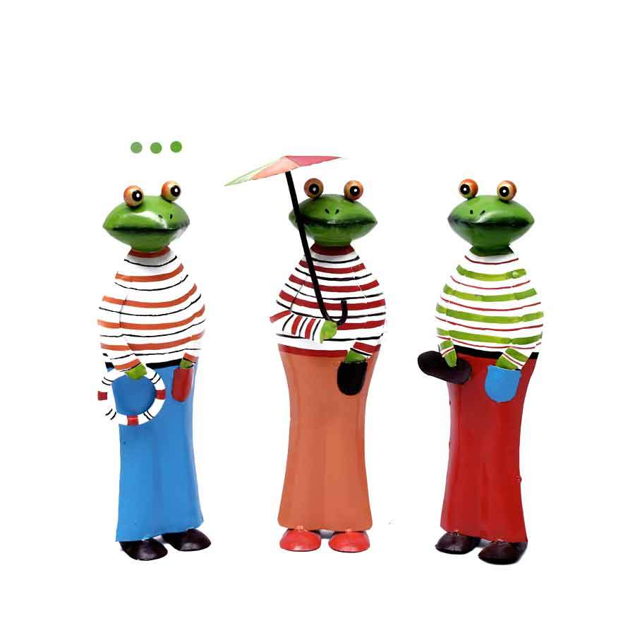 Home Fragrances And Decor - Frog- Colorful Cloths - Set Of 3