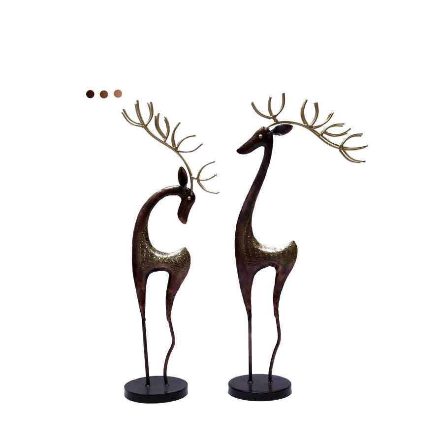 Home Fragrances And Decor - Iron Dear- Set Of 2