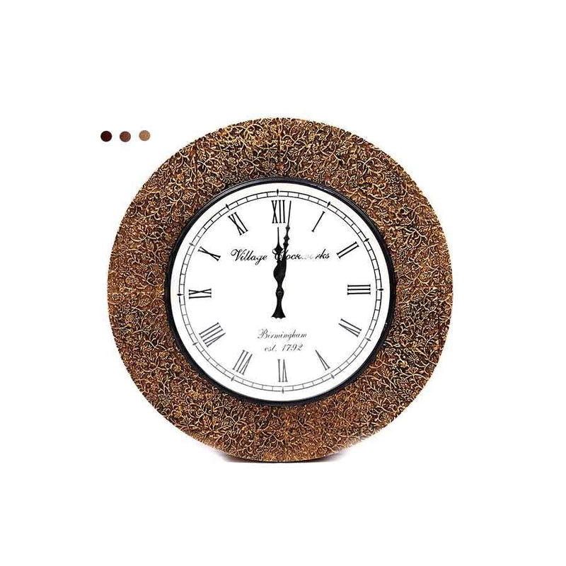 Home Fragrances And Decor - Pop Wall Clock Brown 18""