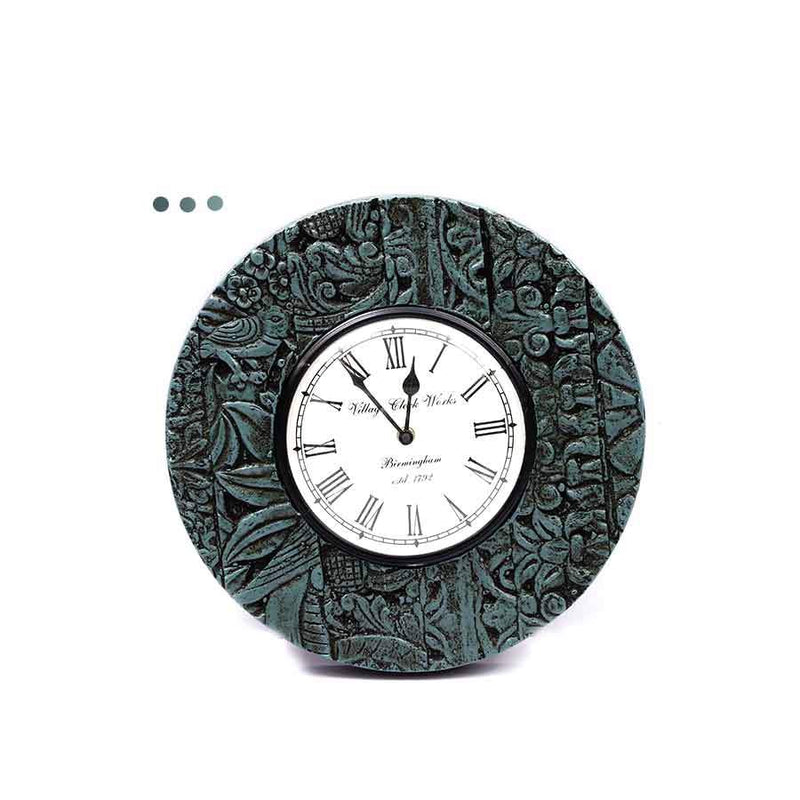 Home Fragrances And Decor - Pop Wall Clock Green 12""