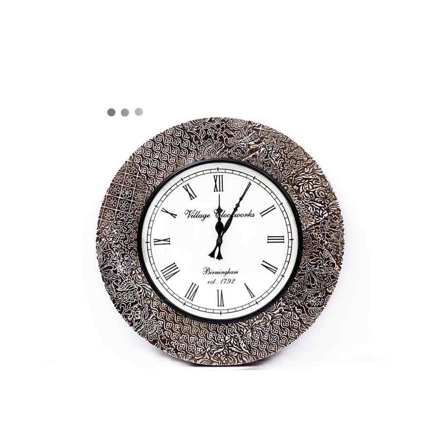 Home Fragrances And Decor - Pop Wall Clock White 18""