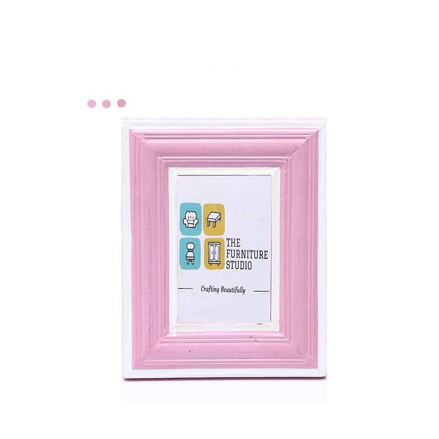 Home Fragrances And Decor - Wooden Moulding Designed Pink Photo Frame