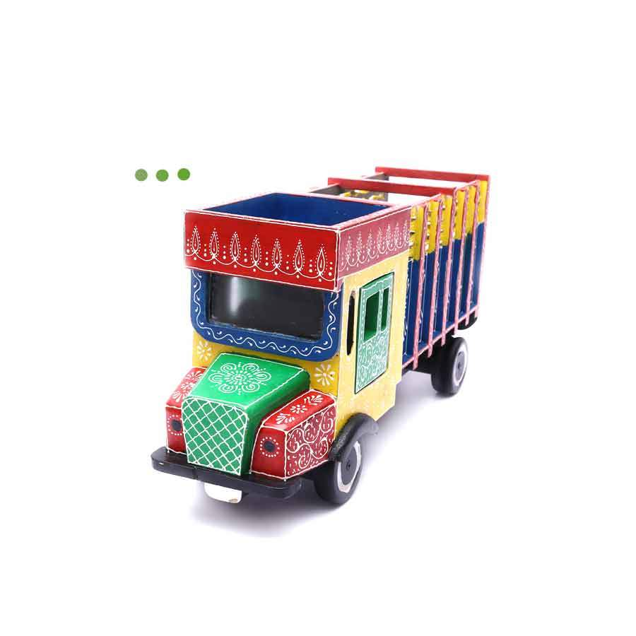 Home Fragrances And Decor - Wooden Truck Hand Painted