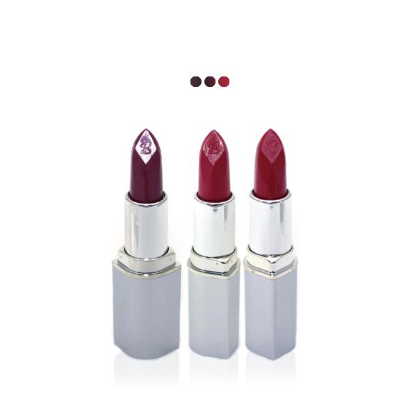 MakeUp - Burgundy Shine/Burnt Amber/Intense Red Paris Premium Lipstick Value Offer