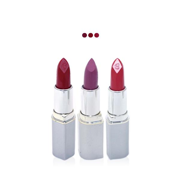 MakeUp - Intense Red/Dark Lavender/Reddish Brown Paris Premium Lipstick Value Offer