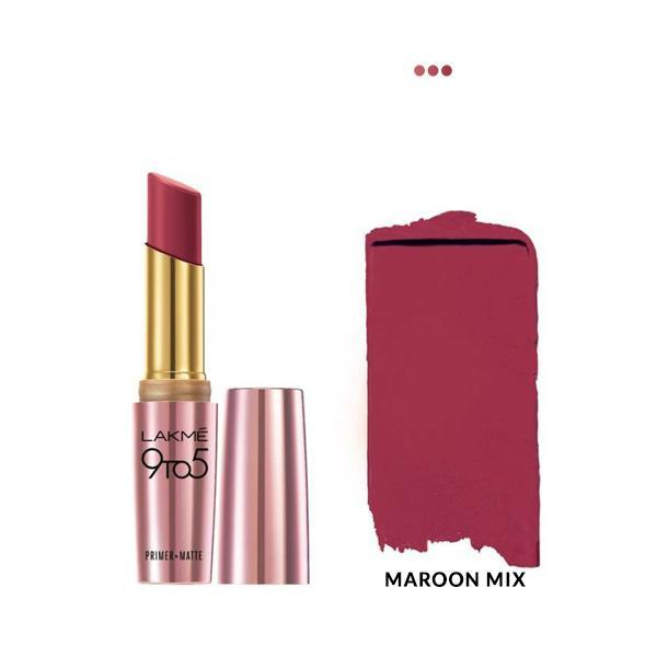 MakeUp - Primer + Matte Lip Color - MR18 Maroon Mix