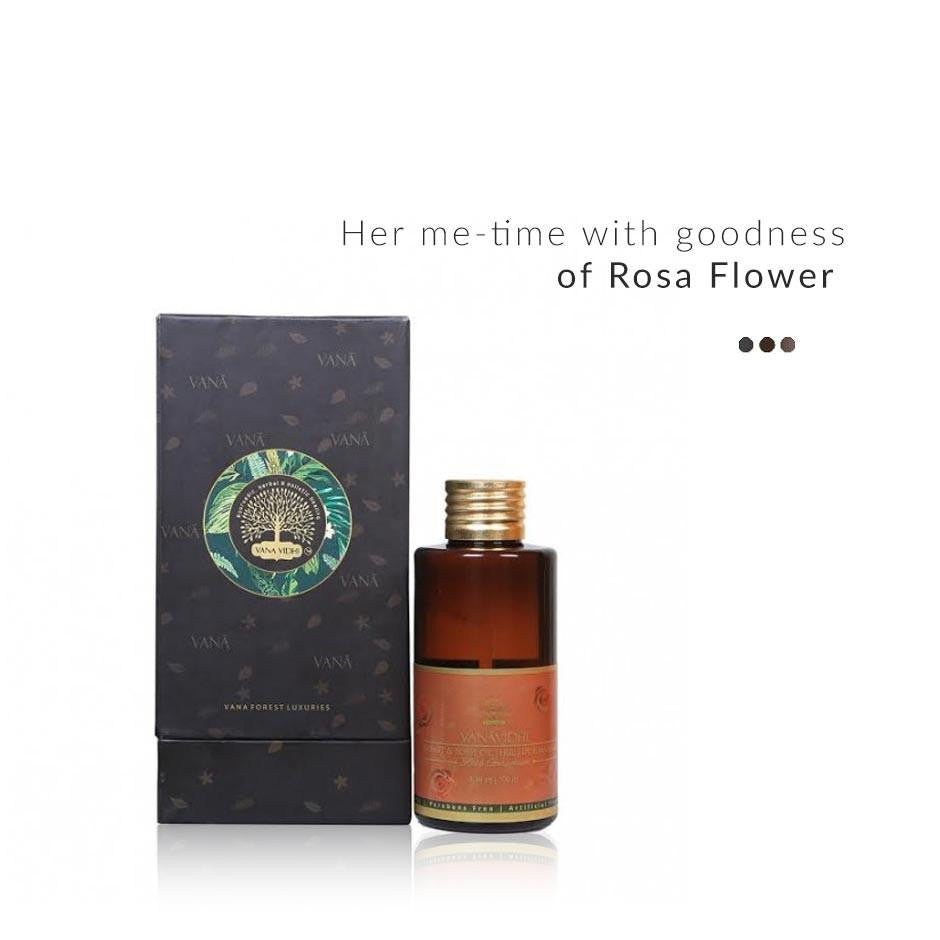 Massage Oil - Romantic Rosa Flower Breast And Body Massage Oil
