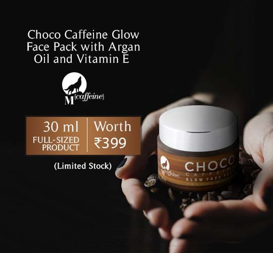 Choco Caffeine Glow Face pack with Argan Oil and Vitamin E for Oily to Normal Skin 30ml