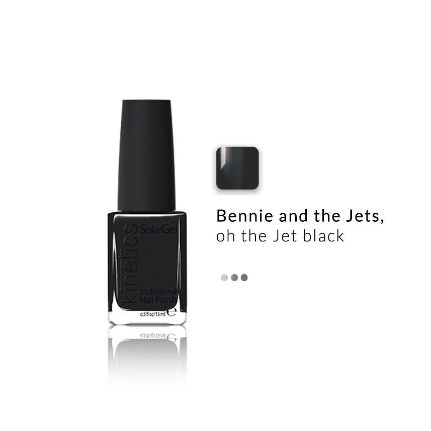 Nail Paint - SolarGel Polish Jet Black