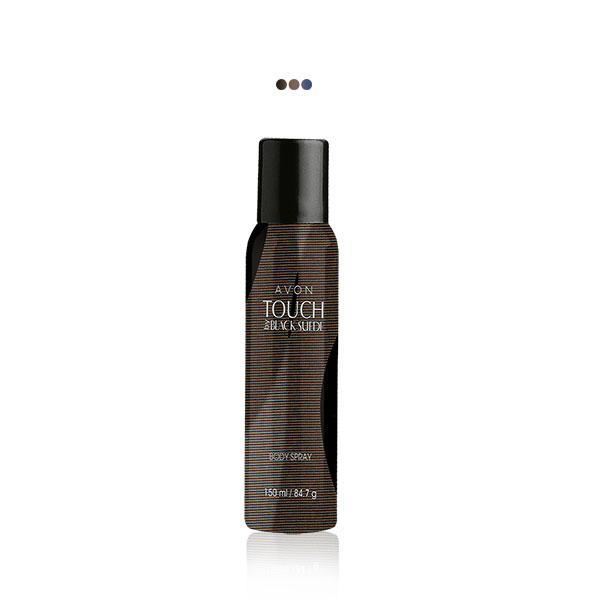 Perfumes And Body Sprays - Black Suede Touch Body Spray