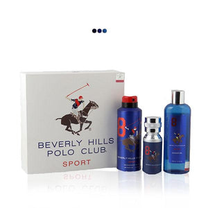 Perfumes And Body Sprays - Blue Gift Pack With Eau De Toilette, Deodrant & Shower Gel