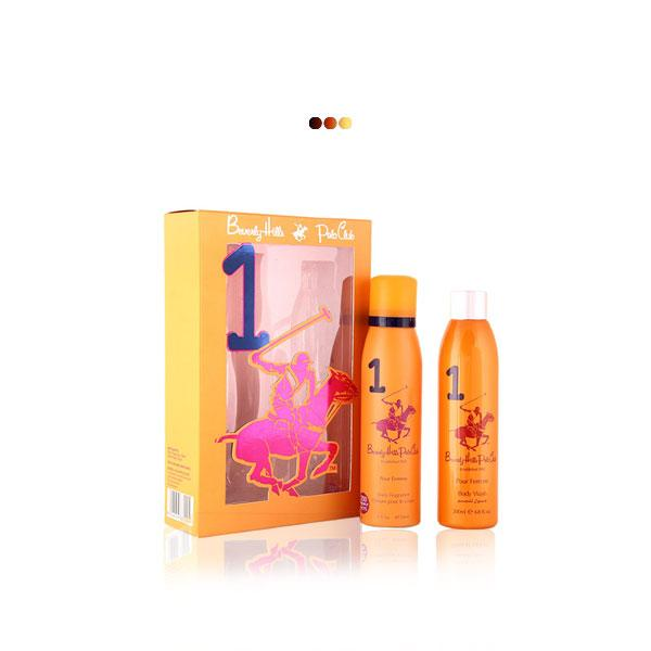Perfumes And Body Sprays - Orange Gift Pack With Body Fragrance & Body Wash