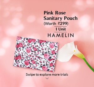 Pink rose Sanitary pouch