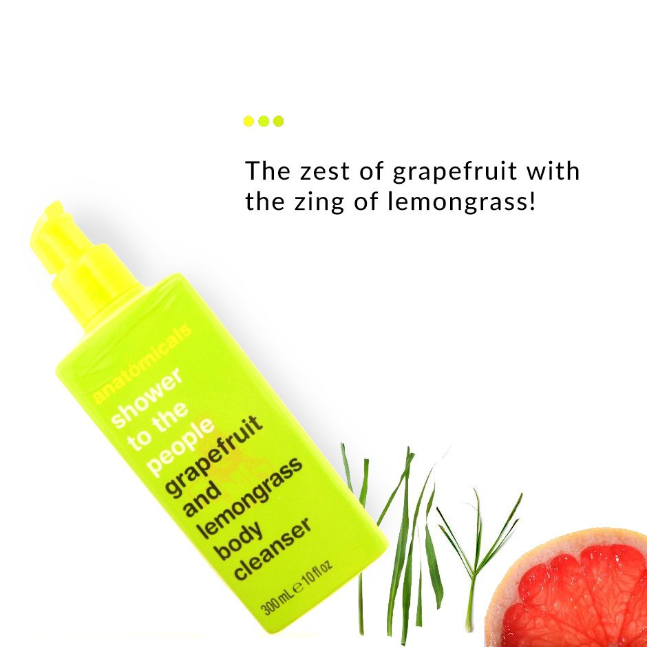 Grapefruit and Lemongrass Body Cleanser on Smytten | Shower gel | Anatomicals