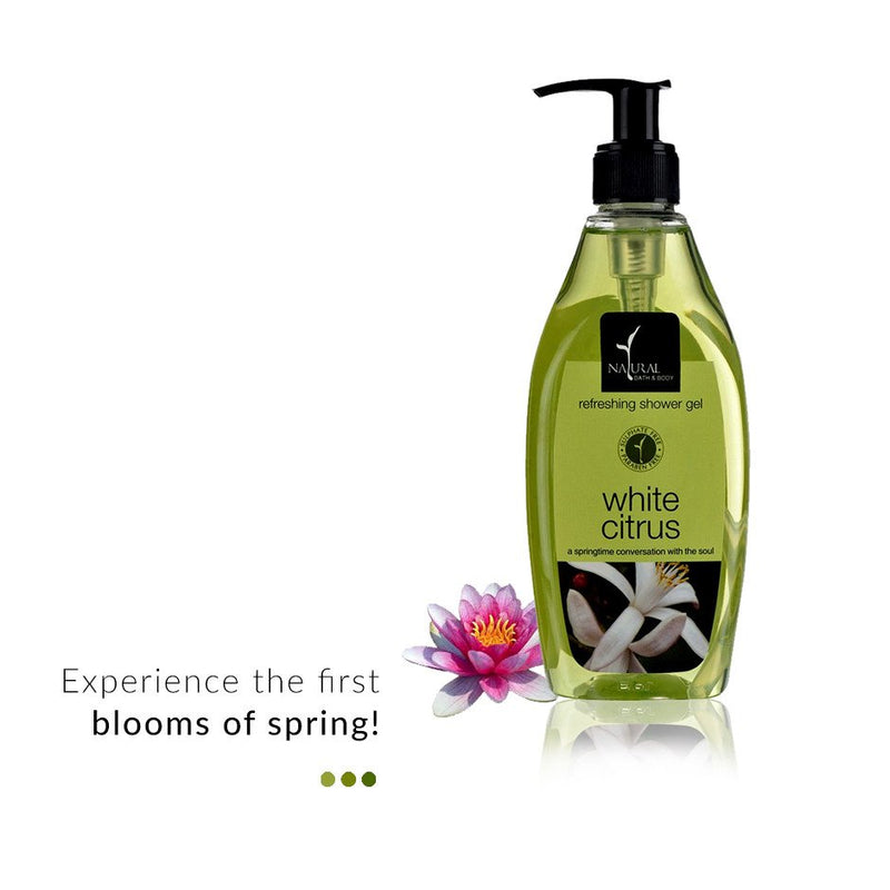 White Citrus Refreshing Shower Gel from  Natural Bath & Body | Smytten